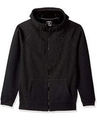 Hurley - Water Repellant Thermal Two Layer Zip Up Hoodie - Lyst