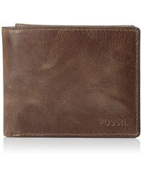 Fossil - Leather Rfid Blocking Passcase Wallet - Lyst