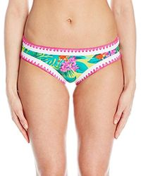 Betsey Johnson - S Swimwear Betsey's Tropical Escape Hipster Bikini Bottom - Lyst