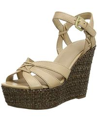 a24e7438 Guess - Guliver/Zeppa (Wedge)/Leather, Zapatos con Plataforma para Mujer