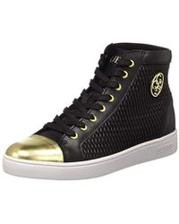 aa794e3239d Steve Madden Bitten Black Sneakers in Black - Lyst