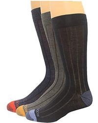 Rockport - Basic Ribbed Crew Sock, Black/charcoal/navy Assorted, Sock Size:10-13/shoe Size: 6-12 - Lyst