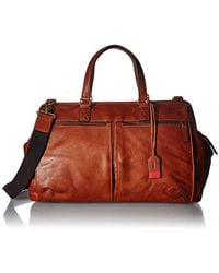 Fossil - Defender Duffle Cognac - Lyst