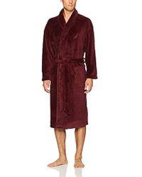 Nautica - Long Sleeve Cozy Soft Plush Shawl Collar Robe - Lyst