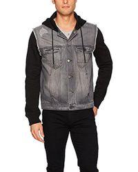 Calvin Klein - Jeans Mixed Media Hooded Trucker Jacket - Lyst