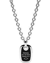 JF02877998 Gioielli Collane Fossil Collana con ciondolo Uomo acciaio_inossidabile