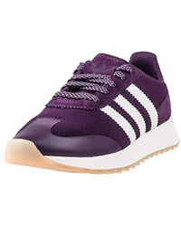 1cc00ce97f9 adidas Flashback Sneaker Low Neck Black in Pink - Lyst
