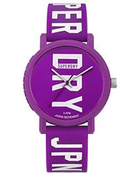 Superdry - Quartz Plastic And Silicone Casual Watch, Color:purple (model: Syl196vw) - Lyst