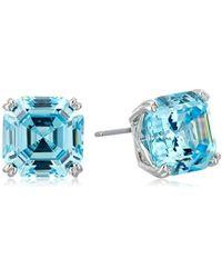 Nicole Miller - 10 Mm Signature Asscher Prong Stud Earrings - Lyst