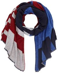 Tommy Hilfiger - Block Party Scarf, Blue (corporate 901), One Size - Lyst