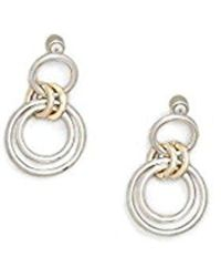 Kenneth Cole - Two-tone Trinity Rings Drop Earring - - Lyst