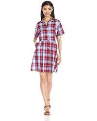 G.H.BASS - Textured Plaid Woven Dress - Lyst