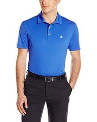 Izod - Short Sleeve Performer's Pieced Interlock And Mesh Golf Polo - Lyst