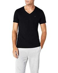 8382e6e8 Tommy Hilfiger Tommyxlewis Black Short Sleeve Organic Cotton T-shirt ...