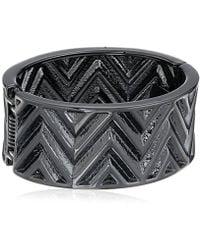 Guess - S Chevron Stripe Wide Stretch Bracelet - Lyst