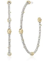 Alexis Bittar - S Crystal Pave Knotted Hoop Earrings - Lyst