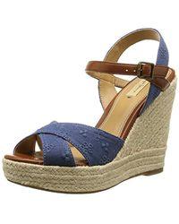 Pepe Jeans - Walker Romantic, 's Flat Wedge Platform Sandals - Lyst