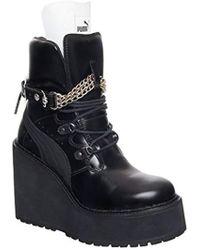 PUMA - Sb Wedge Rihanna Mid-calf Leather Fashion Trainer - Lyst