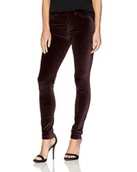 French Connection - Velvet Luxe Pants - Lyst