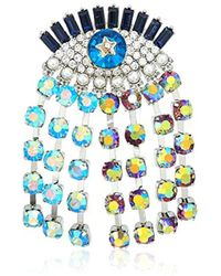 Betsey Johnson - Mystic Baroque Queens Multi-color And Multi-stone Evil Eye Pin - Lyst