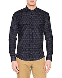 Scotch & Soda - Longsleeve Shirt with all-Over Print, Camicia Uomo, Nero (Combo B 0218), X-Large - Lyst