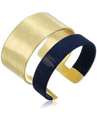 Lucky Brand - Wrapped Gold Cuff Bracelet - Lyst