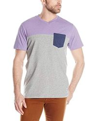 U.S. POLO ASSN. - Three Color Blocked V-neck T-shirt - Lyst