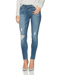 PAIGE - Verdugo Ultra Skinny Jeans Sienna Destructed - Lyst