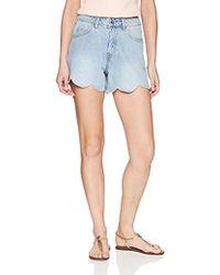 Vero Moda - Nancy Scallop Edge Shorts - Lyst