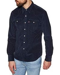 156cd90c2f98 Levi's Barstow Navy Corduroy Western Shirt - Mens M in Blue for Men ...