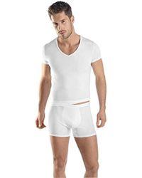 Hanro - Micro Touch Short Sleeve V-neck Shirt - Lyst