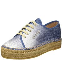 Guess - Glitter Fabric, 's High Trainers - Lyst