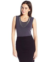 CALVIN KLEIN 205W39NYC - Sleeveless Top With Chain Necklace - Lyst