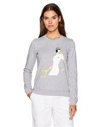 Lacoste - Roland Garros Long Sleeve Graphic Sweatshirt - Lyst