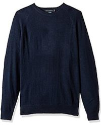 French Connection - Lambswool Needle Punch Elbow Patch Sweater - Lyst