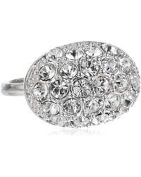 T Tahari - Essentials Oval Crystal Pave Ring, Size 7 - Lyst