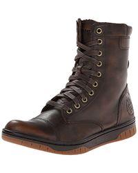DIESEL - Tatradium Basket Butch Zip Combat Boot, Coffee Bean, 7 M Us - Lyst