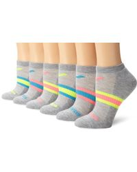 Saucony - 6 Pack Performance Arch Stripe No Show Socks - Lyst