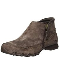 Skechers Bikers-zippiest-moc-toe Outside Zip Bootie Ankle Boot, Chocolate, 5 M Us