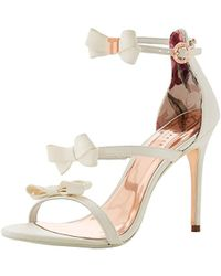 a742bdd70b85 Ted Baker Nuscala Bow Ankle-strap Sandals in Pink - Lyst