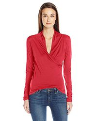 Velvet By Graham & Spencer - Meri Surplice Top - Lyst
