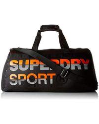 Superdry - Linemanskatebarrel, 's Backpack, Multicolour (black/hazard Orange), 45x30x15 Cm (w X H L) - Lyst