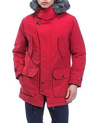 Nautica - Long Sleeve Hooded Down Parka Jacket - Lyst