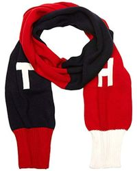 Tommy Hilfiger - Th Denim Knit Scarf, Multicoloured (corporate Clrs), One Size(size:os) - Lyst