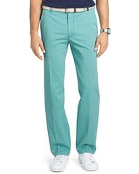 Izod - Performance Stretch Straight Fit Flat Front Chino Pant - Lyst
