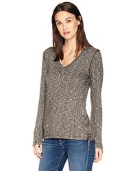 Michael Stars - Jasper Poorboy Long Sleeve V-neck Laced Side Top - Lyst