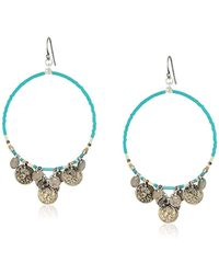 Chan Luu - Turquoise Mix Coin Hoop Earrings - Lyst