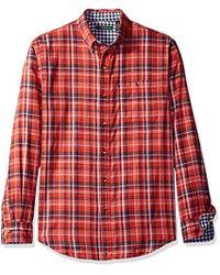 G.H.BASS - Lake Water Plaid Long Sleeve Shirt - Lyst