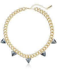 Steve Madden - Steve Madded Simple Spike Chain Necklace - Lyst