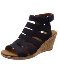 Rockport - Briah Banded Sling Platform Sandals - Lyst